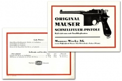 Advert for Mauser-Schnellfeuer